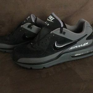 Men's NIKE air max 90 black and charcoal grey